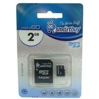 Карта памяти SmartBuy - micro SD 2Гб, адаптер SD(SB2GBSD-01). Интернет-магазин Vseinet.ru Пенза