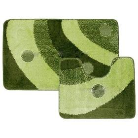 Фото Комплект ковриков для в/к BANYOLIN CLASSIC COLOR из 2 шт 60х100/55х45см (48) (зеленый). Интернет-магазин Vseinet.ru Пенза