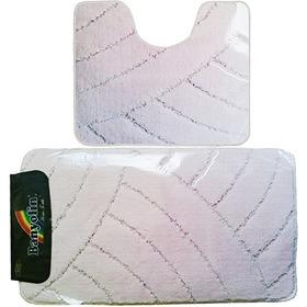 Фото Комплект ковриков для в/к BANYOLIN CLASSIC из 2 шт 50х80/50х40см (нежно-розовый). Интернет-магазин Vseinet.ru Пенза