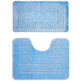 Фото Комплект ковриков для в/к BANYOLIN CLASSIC из 2 шт 50х80/50х40см (светло-голубой). Интернет-магазин Vseinet.ru Пенза