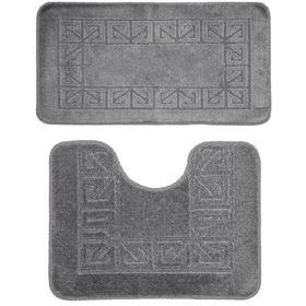 Фото Комплект ковриков для в/к BANYOLIN CLASSIC из 2 шт 50х80/50х40см (серый). Интернет-магазин Vseinet.ru Пенза