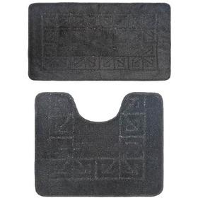 Фото Комплект ковриков для в/к BANYOLIN CLASSIC из 2 шт 50х80/50х40см (черный). Интернет-магазин Vseinet.ru Пенза