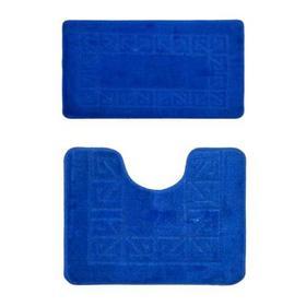 Фото Комплект ковриков для в/к BANYOLIN CLASSIC из 2 шт 60х100/50х60см (синий). Интернет-магазин Vseinet.ru Пенза