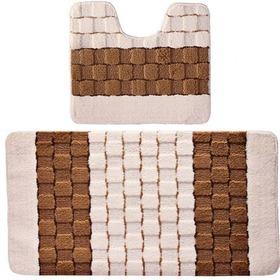 Фото Комплект ковриков для в/к BANYOLIN SILVER из 2 шт 50х80/50х40см (кремовый). Интернет-магазин Vseinet.ru Пенза