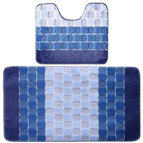Фото Комплект ковриков для в/к BANYOLIN SILVER из 2 шт 60х100/50х60см (голубой). Интернет-магазин Vseinet.ru Пенза