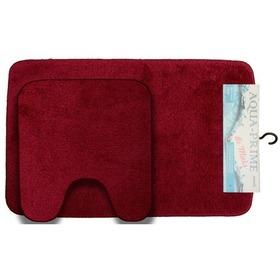Фото Комплект ковриков для в/к AQUA-Prime Be''Maks из 2 шт 50х80/40х50см (бордо). Интернет-магазин Vseinet.ru Пенза