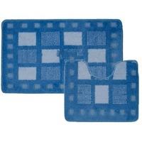 Комплект ковриков для в/к BANYOLIN CLASSIC COLOR из 2 шт 55х90/55х45см (голубой). Интернет-магазин Vseinet.ru Пенза