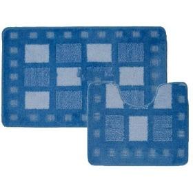 Фото Комплект ковриков для в/к BANYOLIN CLASSIC COLOR из 2 шт 55х90/55х45см (голубой). Интернет-магазин Vseinet.ru Пенза