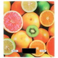 Весы кухонные Delta KCE-52, многоцветные с рисунком «Фруктовый микс». Интернет-магазин Vseinet.ru Пенза