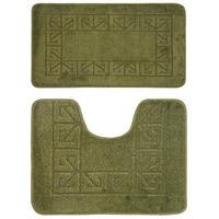 Комплект ковриков для в/к BANYOLIN CLASSIC из 2 шт 50х80/50х40см 11мм (темно-зеленый) 1/25 (1, РОССИ. Интернет-магазин Vseinet.ru Пенза