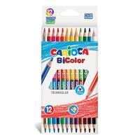 Фото Карандаши цветные Carioca Bicolor 42991 12цв. карт.кор.. Интернет-магазин Vseinet.ru Пенза