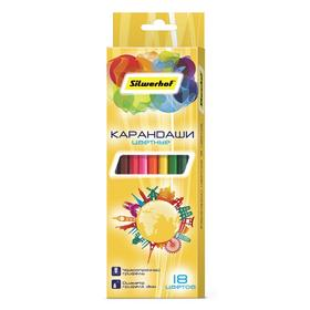Фото Карандаши цветные Silwerhof 134218-18 Солнечная коллекция шестигран. 2.8мм 18цв. коробка/европод.. Интернет-магазин Vseinet.ru Пенза