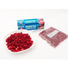 Пакеты для замораживания и хранения продуктов с замком PATERRA 25шт  в уп. 1л, толщ.40мкм (109-194)