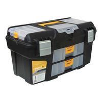 Фото Ящик для инструментов ГЕФЕСТ 21' металл замки (с двумя консолями и коробками) М2945. Интернет-магазин Vseinet.ru Пенза