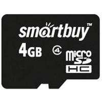 Карта памяти SmartBuy microSDHC, 4Gb, без адаптера, class4, черная. Интернет-магазин Vseinet.ru Пенза