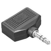 Адаптер Hama H-43353 2x3.5 мм Jack (f) - 3.5 мм Jack (m) стерео черный. Интернет-магазин Vseinet.ru Пенза