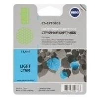 Картридж Cactus CS-EPT0805 для Epson Stylus Photo P50, светло-голубой , 460 стр., 11 мл.. Интернет-магазин Vseinet.ru Пенза