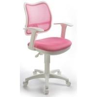 Кресло Бюрократ Ch-W797 PK TW-13A белый пластик спинка розовая сетка сиденье розовое TW-13A. Интернет-магазин Vseinet.ru Пенза