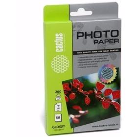 Фото Фотобумага Cactus CS-GA620050 глянцевая 10x15 200 г/м2 50 листов. Интернет-магазин Vseinet.ru Пенза