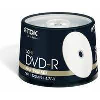 Диск TDK DVD-R 4.7Gb 16x Cake Box (50шт) Printable (t19914) DVD-R47PWCBED50. Интернет-магазин Vseinet.ru Пенза