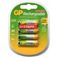 Аккумулятор AAA GP 100AAAHC, Ni-MH, 1000 mAh, 1.2 V (в упаковке 4 шт., цена за 1 шт.). Интернет-магазин Vseinet.ru Пенза