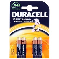 Фото Батарея Duracell LR03-4BL Basic AAA 4шт(цена за 1 шт). Интернет-магазин Vseinet.ru Пенза