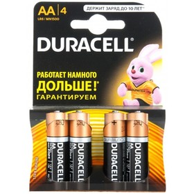 Батарея Duracell LR6-4BL Basic AA 4шт