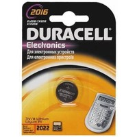 Батарейка Duracell DL2016/CR2016 display 3V Lithium B1 (1шт). Интернет-магазин Vseinet.ru Пенза