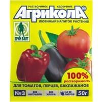 Удобрение ГринБэлт Агрикола 3 томат, перец 50гр. Интернет-магазин Vseinet.ru Пенза