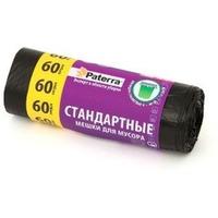 Мешки для мусора 60л стандартные черные, 15шт в рулоне PATERRA (106-056). Интернет-магазин Vseinet.ru Пенза