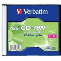 Диск CD-RW Verbatim 700Mb 8-12x Slim case (20шт) (43762). Интернет-магазин Vseinet.ru Пенза
