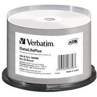 Диск CD-R Verbatim 700Mb 52x DL+ White Wide Thermal Printable (50шт) (43756). Интернет-магазин Vseinet.ru Пенза