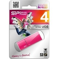 Флешка Silicon Power Ultima  U05 4Гб,  USB 2.0, розовый (SP004GBUF2U05V1H). Интернет-магазин Vseinet.ru Пенза