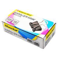 Фото Зажимы Silwerhof 510015 сталь 25мм черный (упак.:12шт) картонная коробка. Интернет-магазин Vseinet.ru Пенза