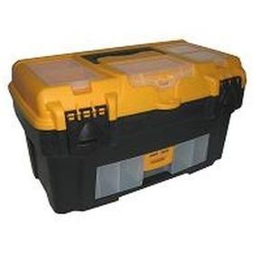 Фото М 2924 Ящик для инструментов АТЛАНТ 18'' (с консолью и секциями) черный с желтым. Интернет-магазин Vseinet.ru Пенза