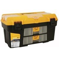 М 2927 Ящик для инструментов УРАН 21' (с двумя консолями и коробками) желтый с черным. Интернет-магазин Vseinet.ru Пенза