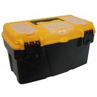М 2937 Ящик для инструментов ТИТАН 21' (с секциями) черный с желтым. Интернет-магазин Vseinet.ru Пенза