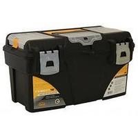 Ящик М 2942 для инструментов ГЕФЕСТ 18' металл замки (с коробками) черный с желтым. Интернет-магазин Vseinet.ru Пенза