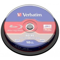 Диск BD-RE Verbatim 25Gb 2x Cake Box (10шт) 43694. Интернет-магазин Vseinet.ru Пенза