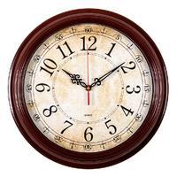 Часы настенные аналоговые Бюрократ WallC-R77P коричневый. Интернет-магазин Vseinet.ru Пенза