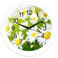 Фото Часы настенные кварцевые ENERGY модель EC-98 ромашки (009471). Интернет-магазин Vseinet.ru Пенза