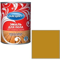 """Фото Эмаль """"Расцвет"""" желто-корич. для пола 1,9 кг.. Интернет-магазин Vseinet.ru Пенза"""