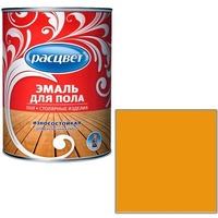 """Эмаль """"Расцвет"""" золотистая для пола 1,9 кг.. Интернет-магазин Vseinet.ru Пенза"""