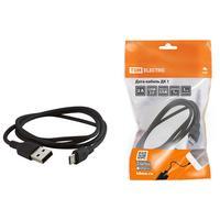 Кабель USB 2.0 (am) - Type C TDM Electric SQ1810-0302, 1 м, черный