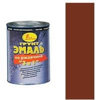 Грунт-эмаль по ржавчине 3 в 1 коричнево-красная 3л. Интернет-магазин Vseinet.ru Пенза