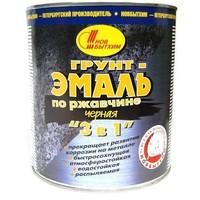 Грунт-эмаль по ржавчине 3 в 1 черная 1л. Интернет-магазин Vseinet.ru Пенза
