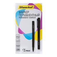 Фото Упаковка перманентных маркеров SILWERHOF Trace, пулевидный пишущий наконечник, черный [088032-01]. Интернет-магазин Vseinet.ru Пенза
