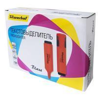 Фото Текстовыделитель Silwerhof Blaze 108036-06 скошенный пиш. наконечник 1-5мм оранжевый картон. Интернет-магазин Vseinet.ru Пенза