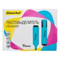 Фото Текстовыделитель Silwerhof Blaze 108036-07 скошенный пиш. наконечник 1-5мм голубой картон. Интернет-магазин Vseinet.ru Пенза