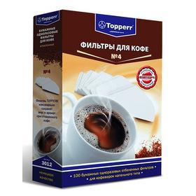 Фильтры для кофе для кофеварок Topper №4 белый 1х4 (упак.:100шт). Интернет-магазин Vseinet.ru Пенза